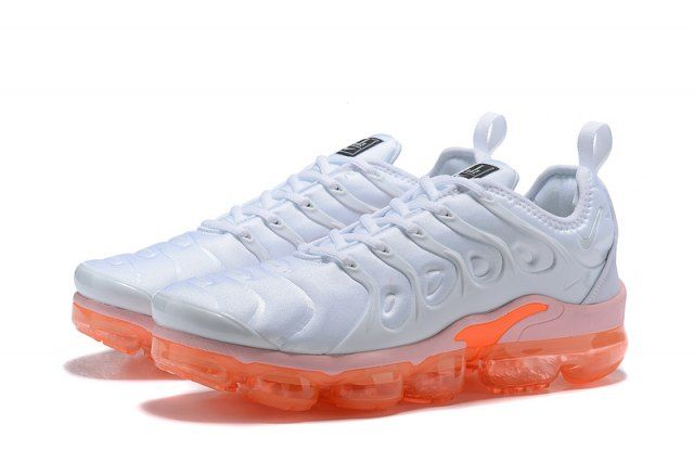3ca3db6a7fa4 Excellent Nike Air VaporMax Plus TN White Orange Women s Men s Running Shoes  Casual Sneakers
