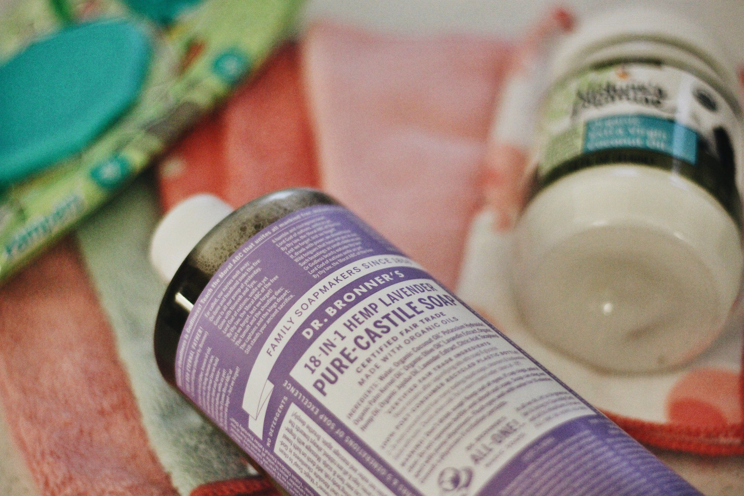 Homemade cloth baby wipes with Dr bronner s liquid Castile soap