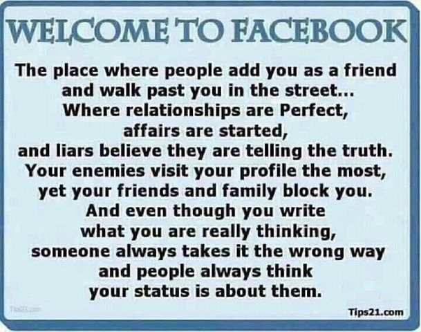 Facebook Quotes And Sayings: Welcome To Facebook Quotes Friendship Quote Friends