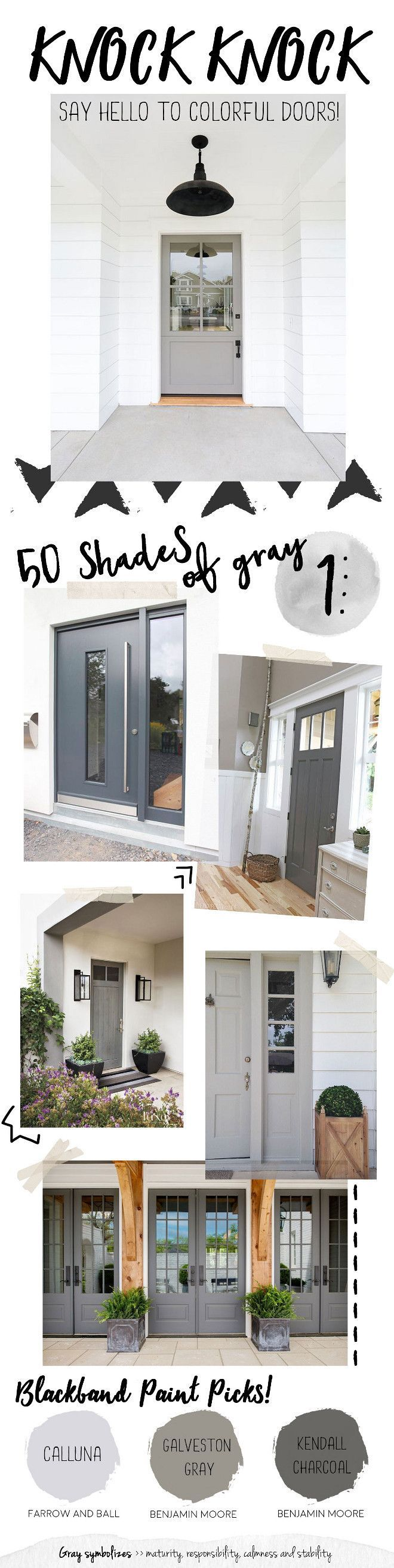 The Perfect Paint Schemes for House Exterior Gray Door Paint Color. Best grey front door paint colors. You simply can't go wrong with a gray front door. Calluna by Farrow and Ball, Galveston… Perfect Paint Schemes for House Exterior Gray Door Paint Color. Best grey front door paint colors. You simply can't go wrong with a gray front door. Calluna by Farrow and Ball, Galveston…Perfect Strangers  Perfect Strangers may refer to: