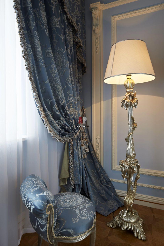 Фото интерьера спальни квартиры в стиле классика | Drapes ...