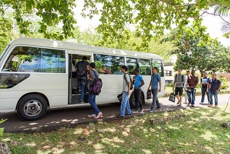 Free shuttle service to the nearby schools