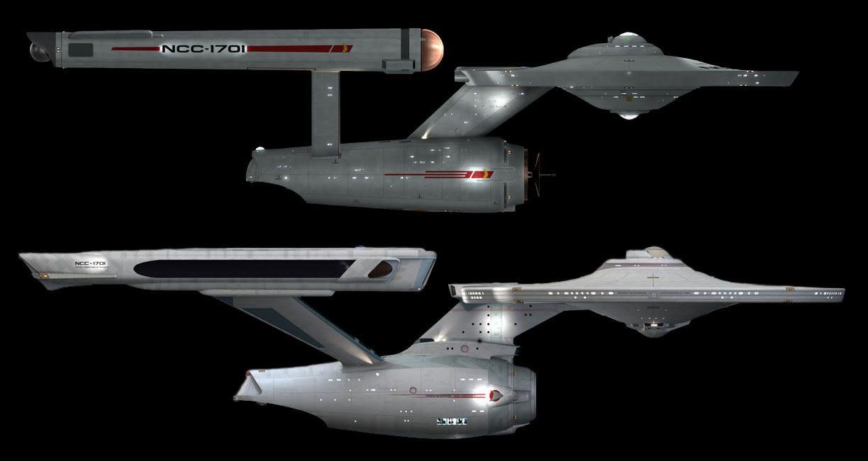 Star trek uss enterprise ncc refit 1 scale model - U S S Enterprise Ncc 1701 Original Series Version Star Trek The Motion Picture