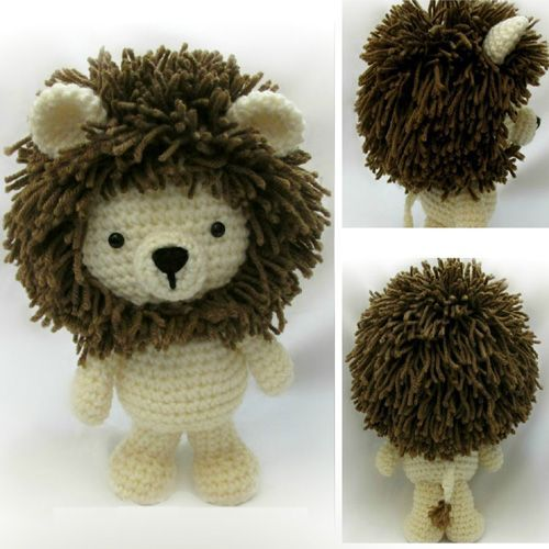 Little Bigfoot LionThis crochet pattern / tutorial is available for free... Full post:Little Bigfoot Lion