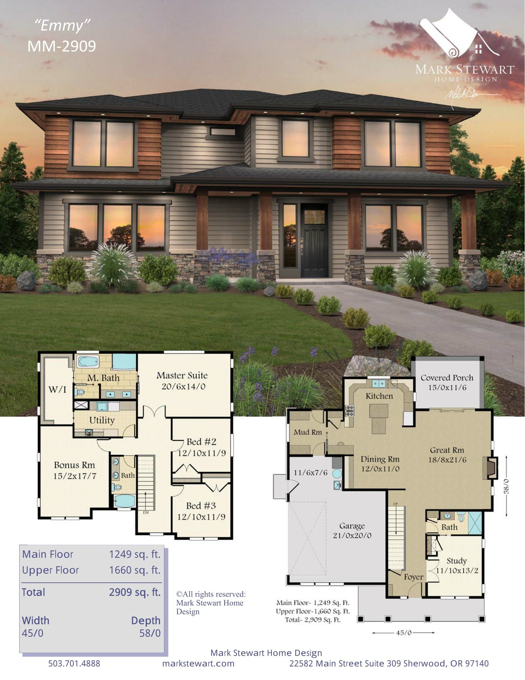 Emmy By Mark Stewart Home Design Family House Plans Sims House Plans Modern House Plans