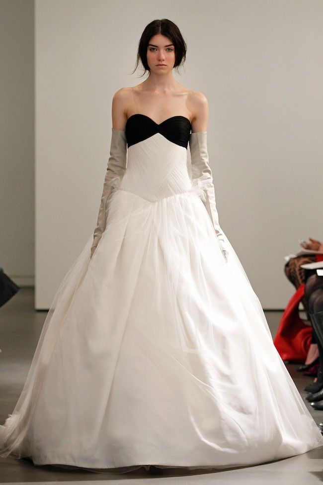 Vera Wang Bridal Collection Spring 2014 Black And White Leather