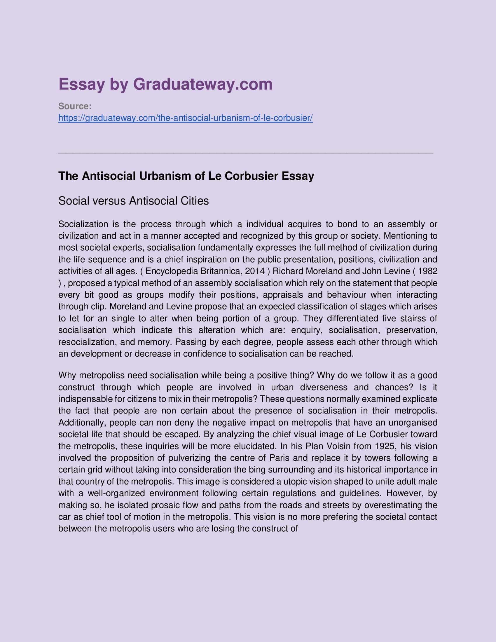 Le Corbusier Essay Sample Cognitive Dissonance College Example Psychology