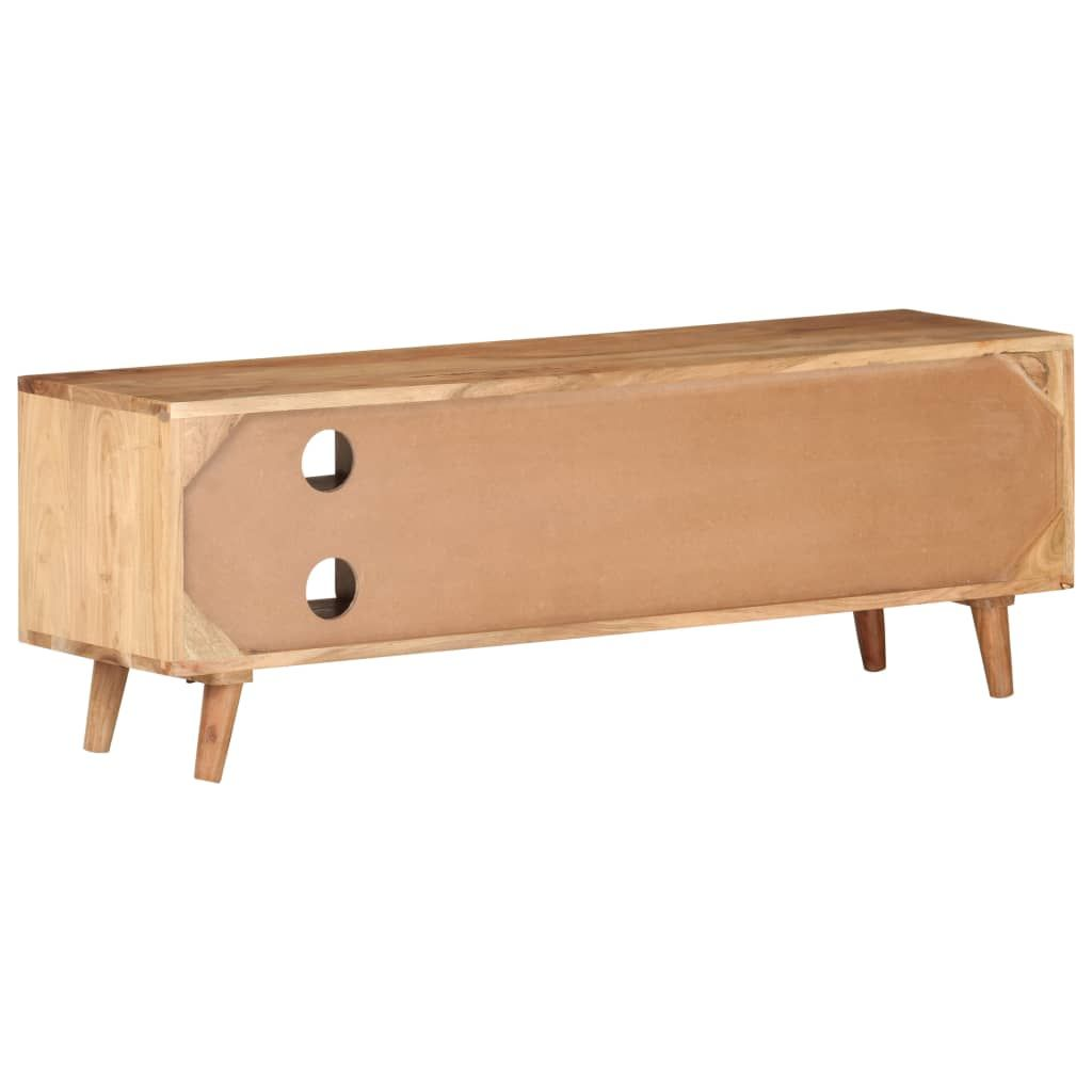 ZNTS TV Cabinet 115x30x39 cm Solid Acacia Wood 322665