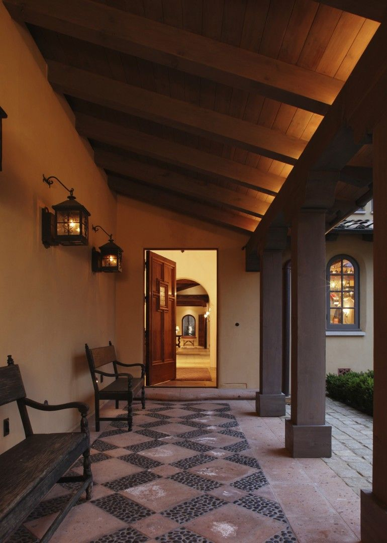 Spanish colonial hacienda carmel california j d for Hacienda style lighting