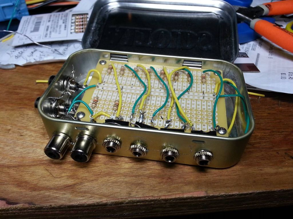 2x10 Band Stereo Graphic Equaliser Circuit Diagram