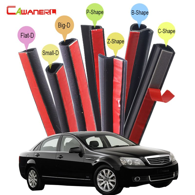 Cawanerl Rubber Car Seal Sealing Strip Kit Weatherstrip Seal Edge
