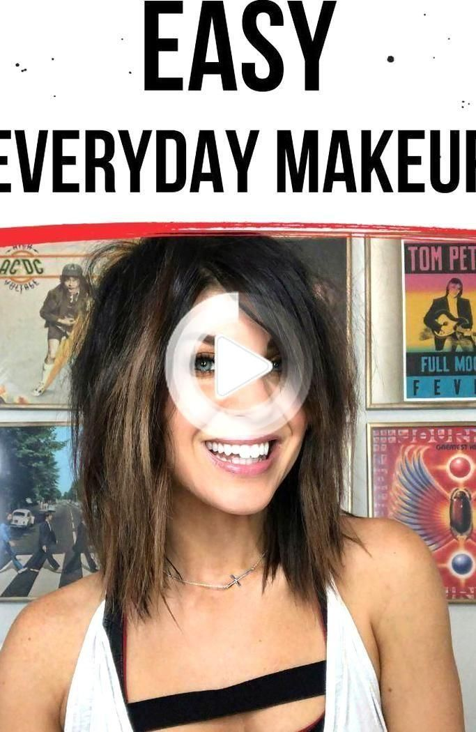 EASY everyday makeup look with an edge Step by step