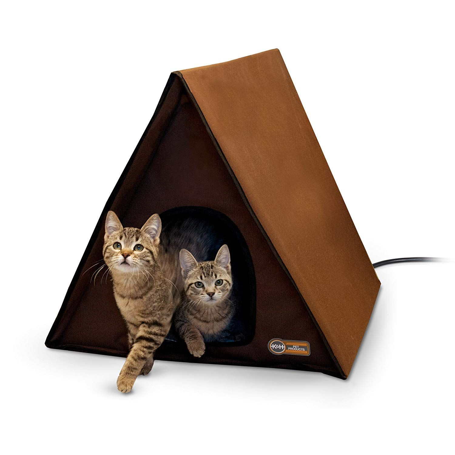 Outdoor Multi Kitty A Frame Outdoor Cat House Cat Bed Heated Cat House