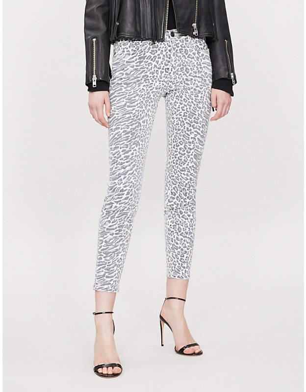 bf0bb5234df0 Current/Elliott The Stiletto skinny high-rise leopard-print jeans ...