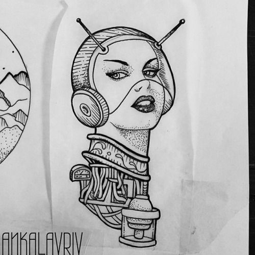 Space Lady Design By @ankalavrivtattoo Up For Grabs