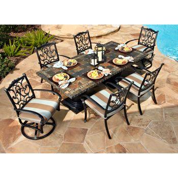 monte cristo 7 piece dining set patio pinterest dining