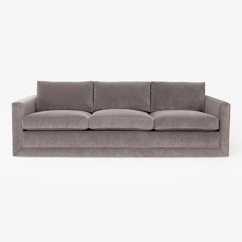 Thayer Coggin Milo Baughman Tuxedo Sofa