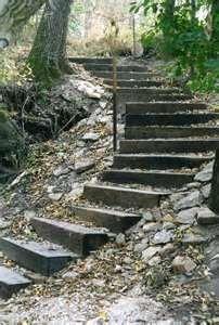 Railroad Tie As Steps Railroad Tie Steps Deer Lake