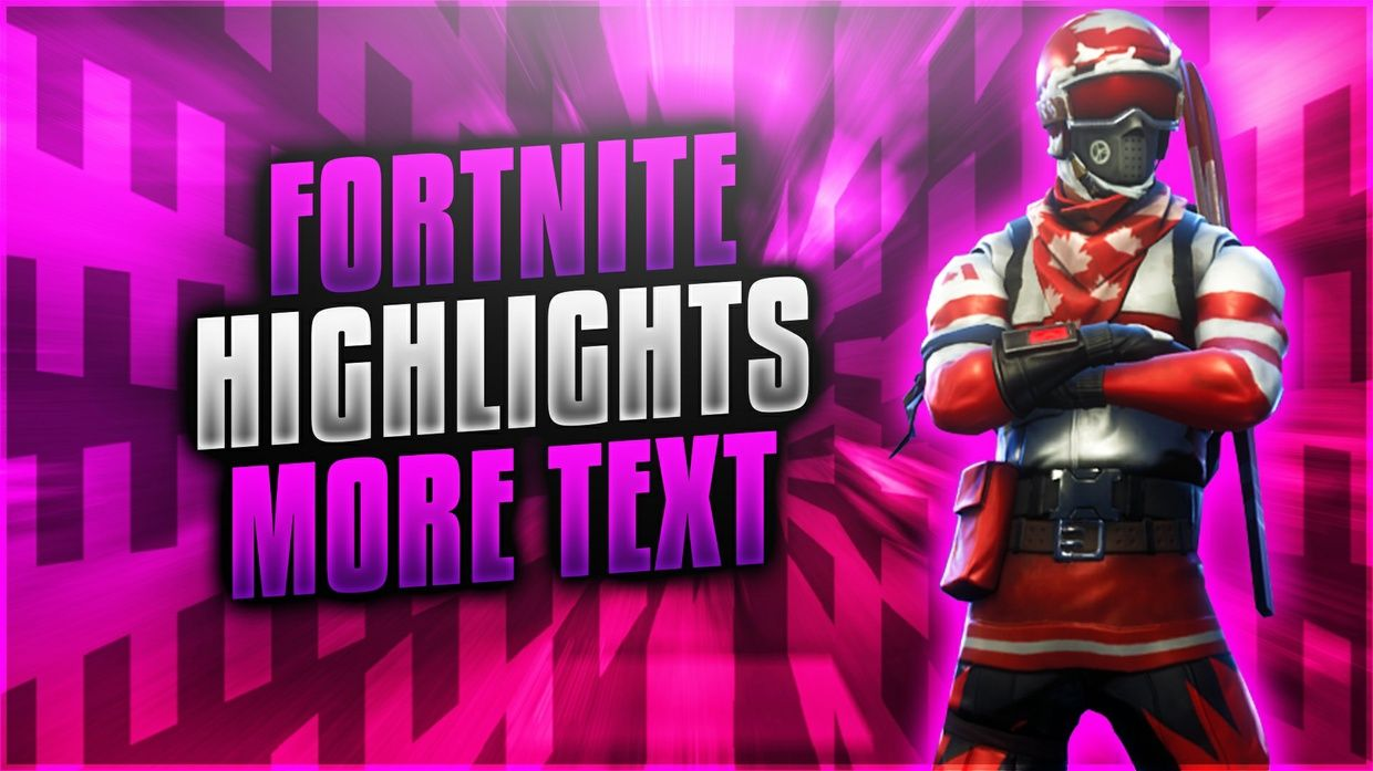 Bright And Attractive Fortnite Battle Royale Thumbnail Template Pack