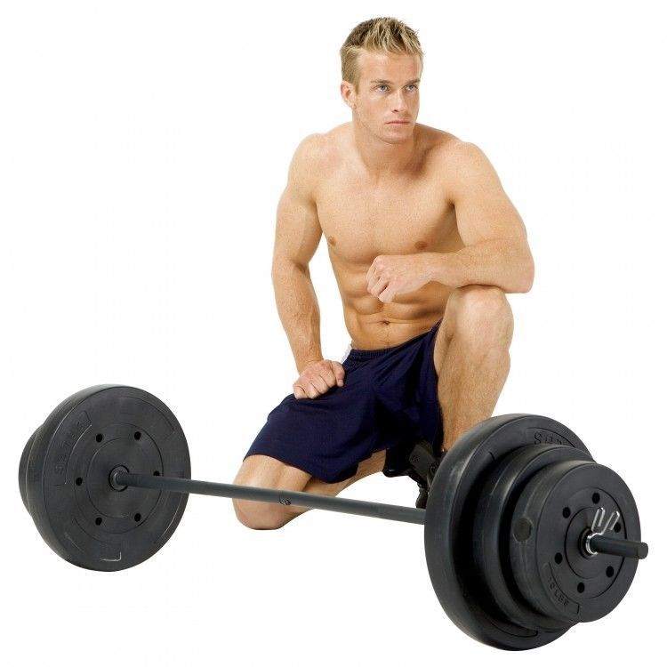 Weight Bar Set Free With Home Body Pump Hand Gym Workout Fitness Vinyl 100 Lbs #WeightBarSet