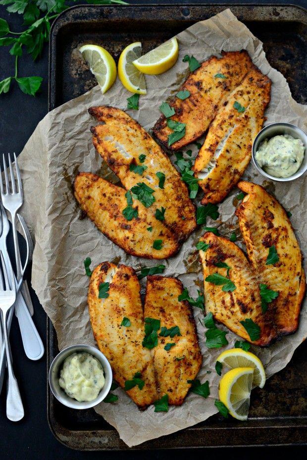 Cajun Tilapia With Lemon Tarragon Tartar Sauce Tilapia Recipes Tilapia Fish Recipes Seafood