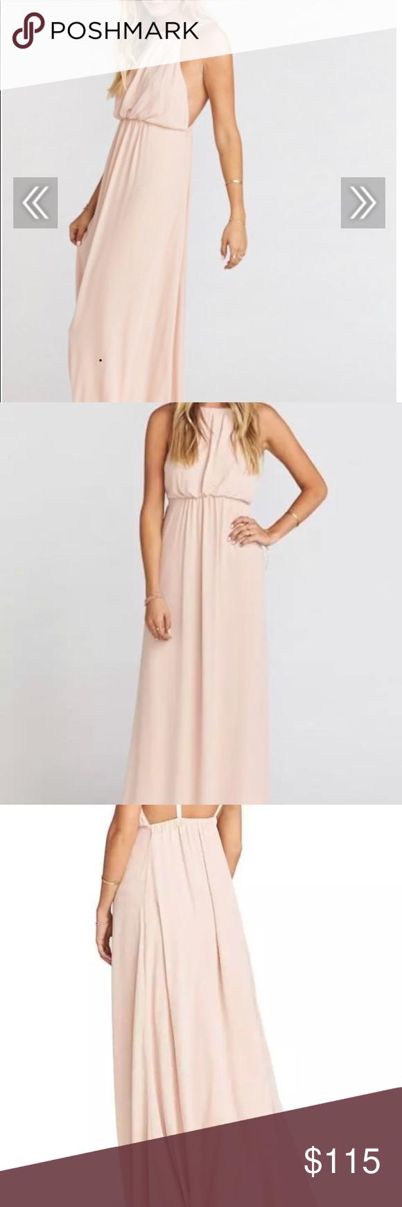 Show Me Your Mumu Amanda Maxi Dress Dusty Blush Size Small