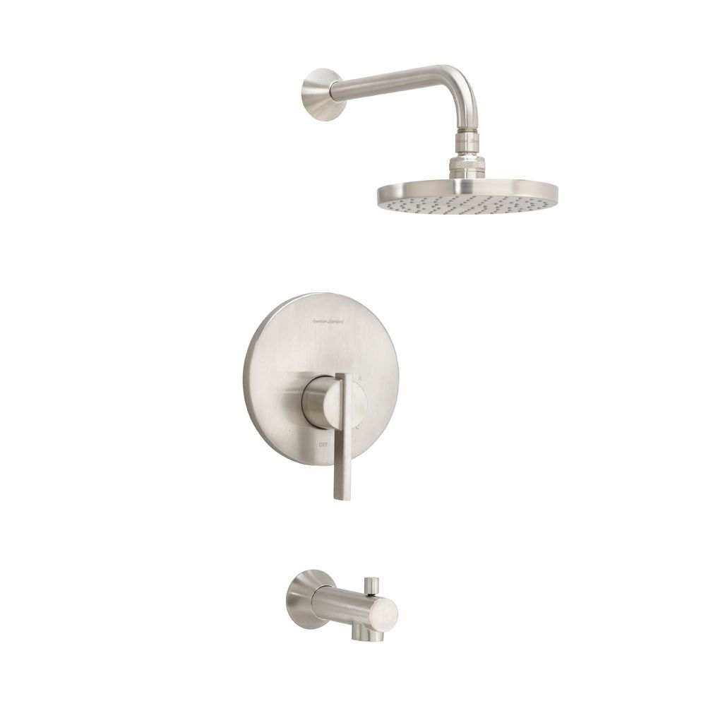 Berwick Bath Shower Trim Kit Rain Showerhead In Satin Nickel