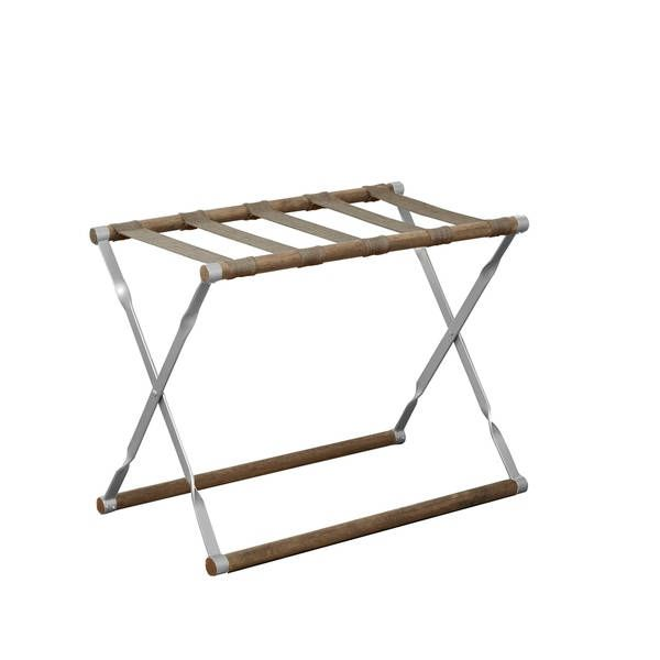 New house carter wood and metal folding luggage rack silver also best images in diy ideas for home future rh pinterest