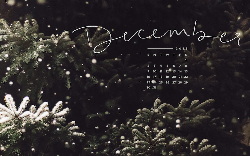 Free, Downloadable Tech Backgrounds for December 2018