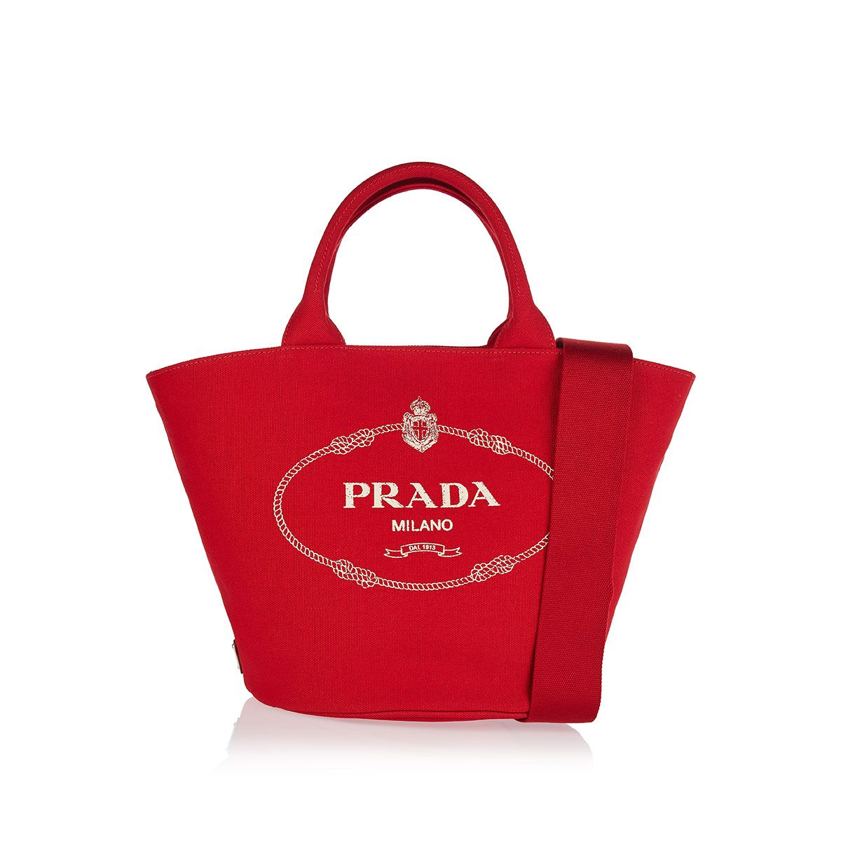 91f241d5dd Shop this Logo cotton tote bag from the latest collection of Prada  womenswear online at LUISAWORLD.COM. All the fashion trends are here!