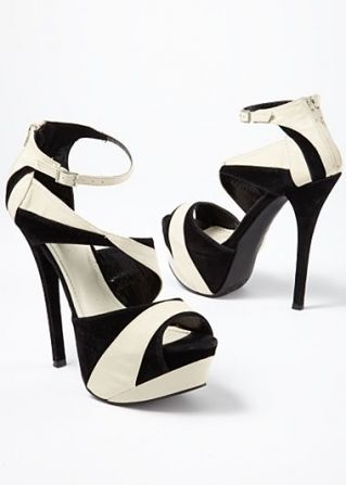 1a4a8a217ed Black   White (BKWH) Two Tone Platform Heel on Chiq