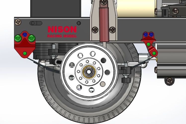 tamiya 1/14 Truck DIY 8X8 truck Front Shock Extender Adapter RC