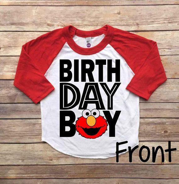 Elmo Birthday Shirt Outfit Boy