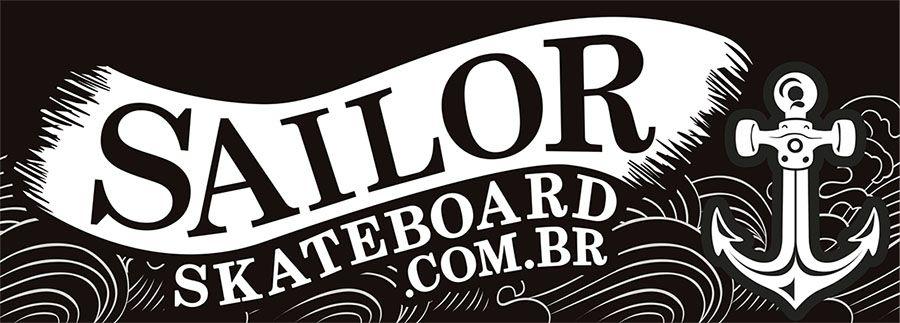 Adesivo #SailorSkateboard - SailorFlag (AdesivoDePista)