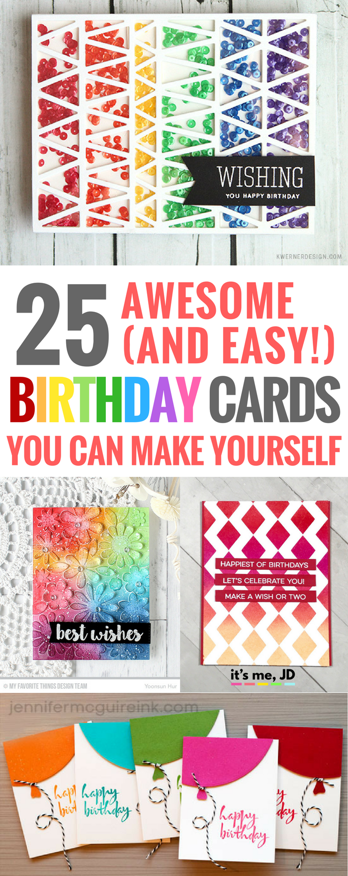 25 Cute Easy DIY Birthday Cards You Can Make Yourself Handmade Greeting Card