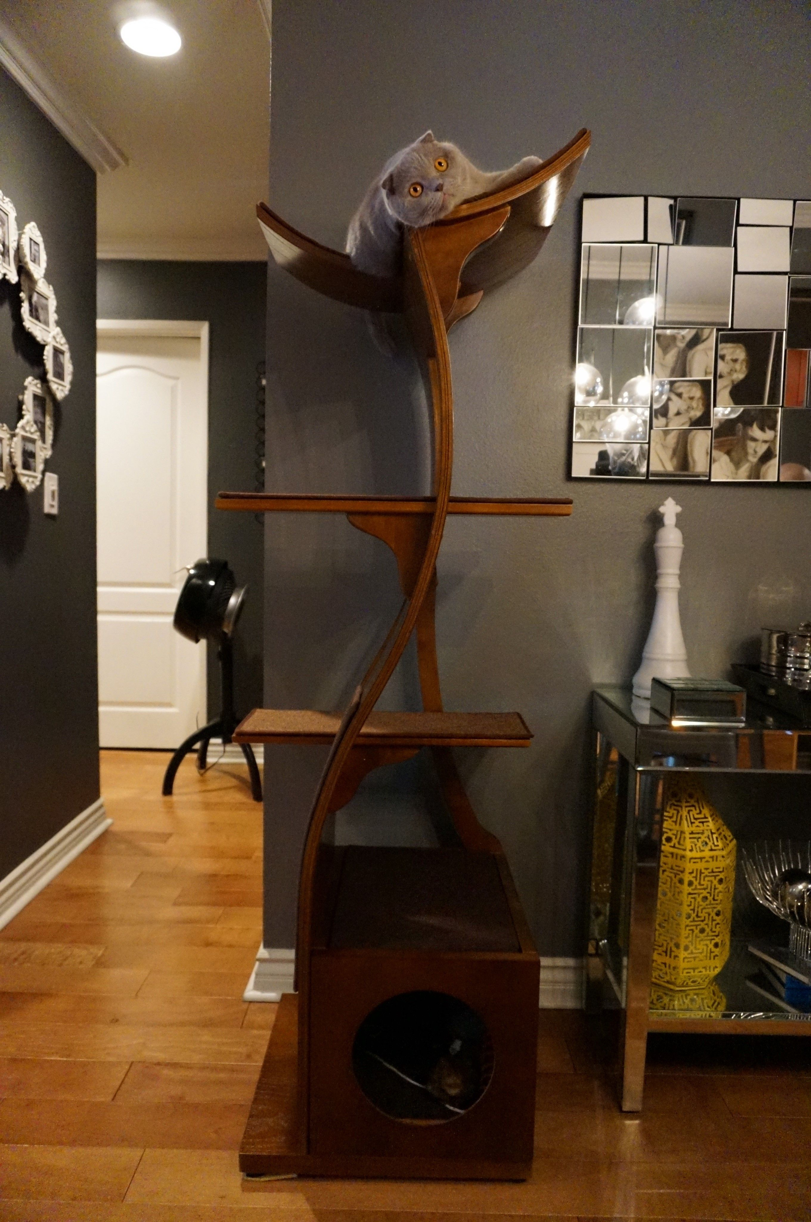 Lotus Cat Tower A Modern Cat Tower The Refined Feline Modern Cat Furniture Modern Cat Cat Furniture