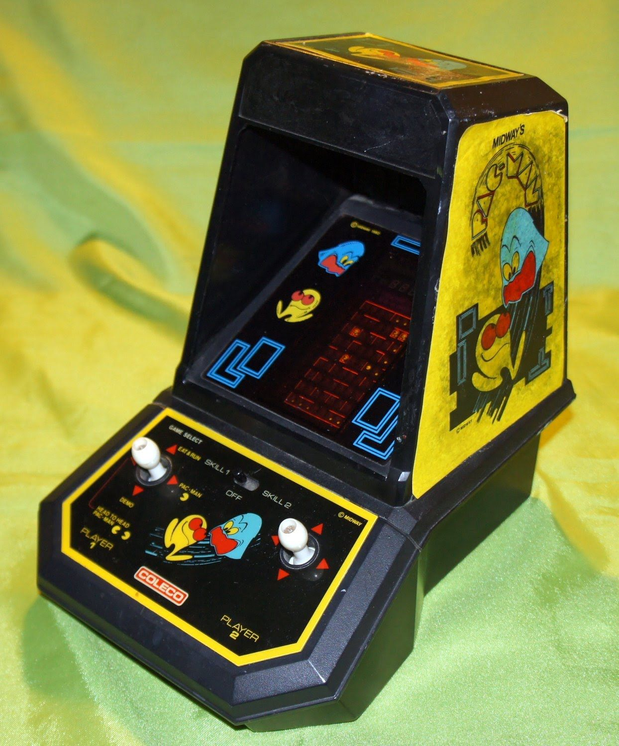 Pacman Table Game >> Vintage 1980 S Pac Man Pacman Coleco Video Tabletop Arcade Game
