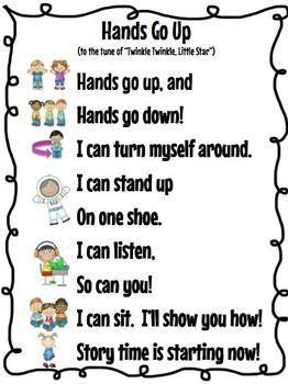 Storytime Song   Classroom songs, Kindergarten songs ...