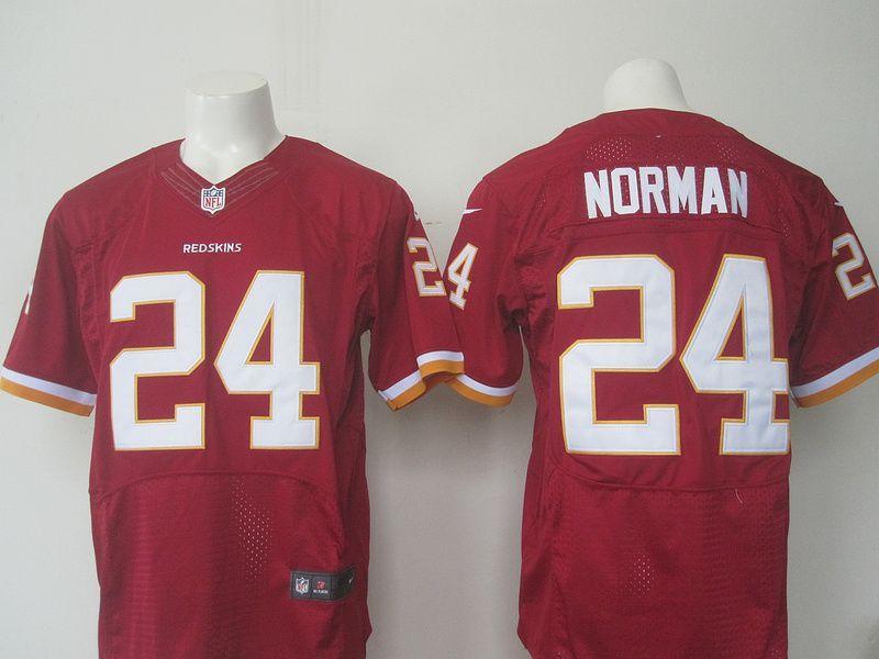 ba91d351b Men Washington Redskins 24 Norman Nike red 2016 Draft Pick Elite Jersey