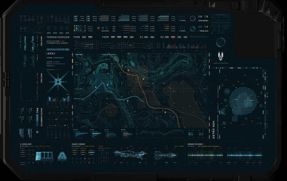 Designing a *functional* futuristic user interface #userinterface