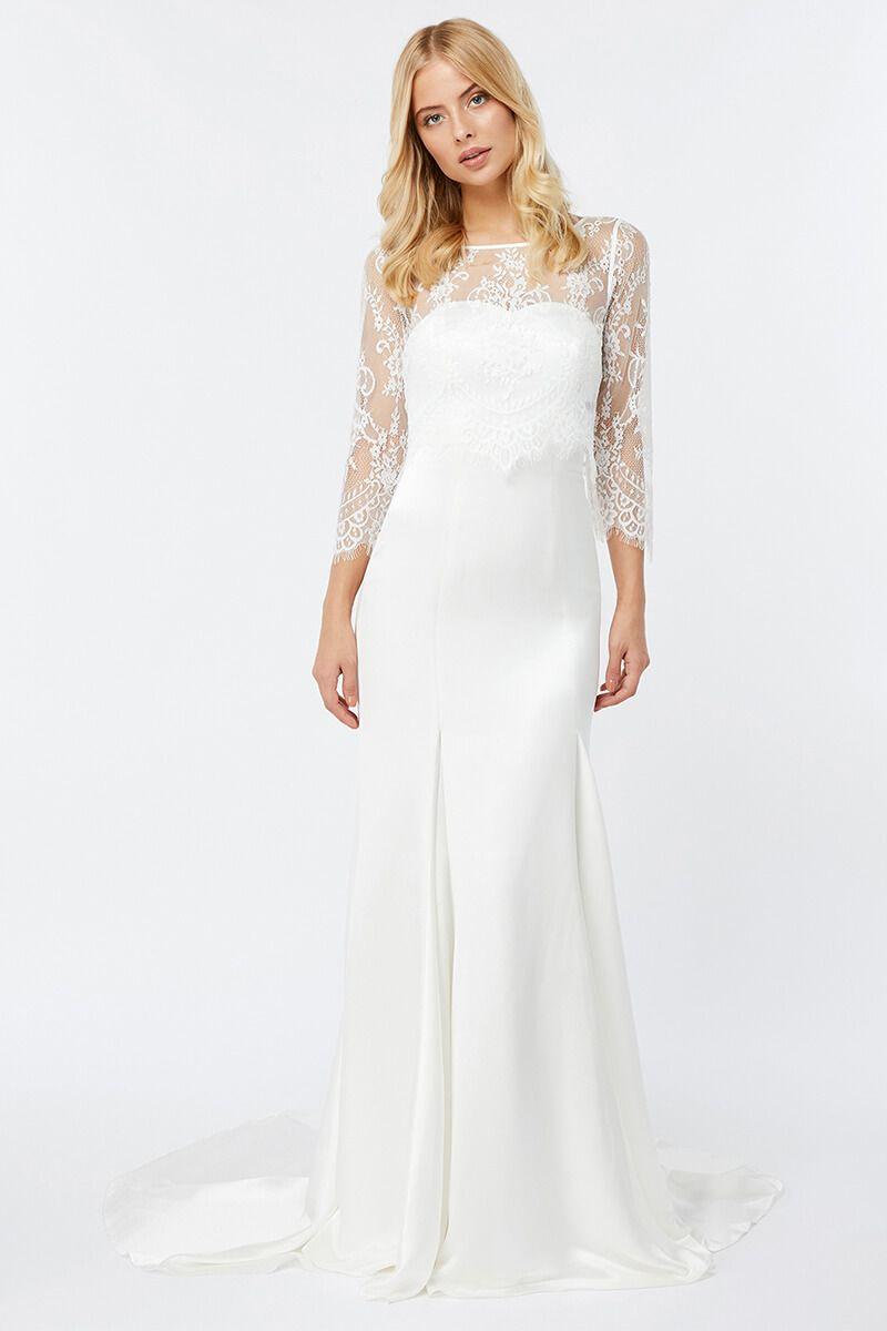 Mermaid dress wedding  Long Sleeves Mermaid Wedding Dress  Mermaid Dresses  Pinterest