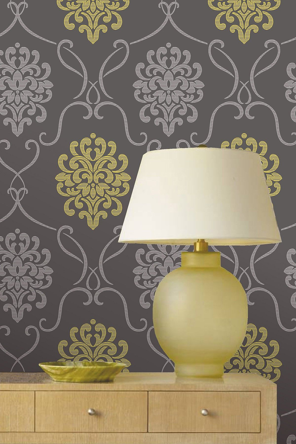 A contemporary twist on a classica mod damask design wallpaper a contemporary twist on a classica mod damask design wallpaper amipublicfo Image collections