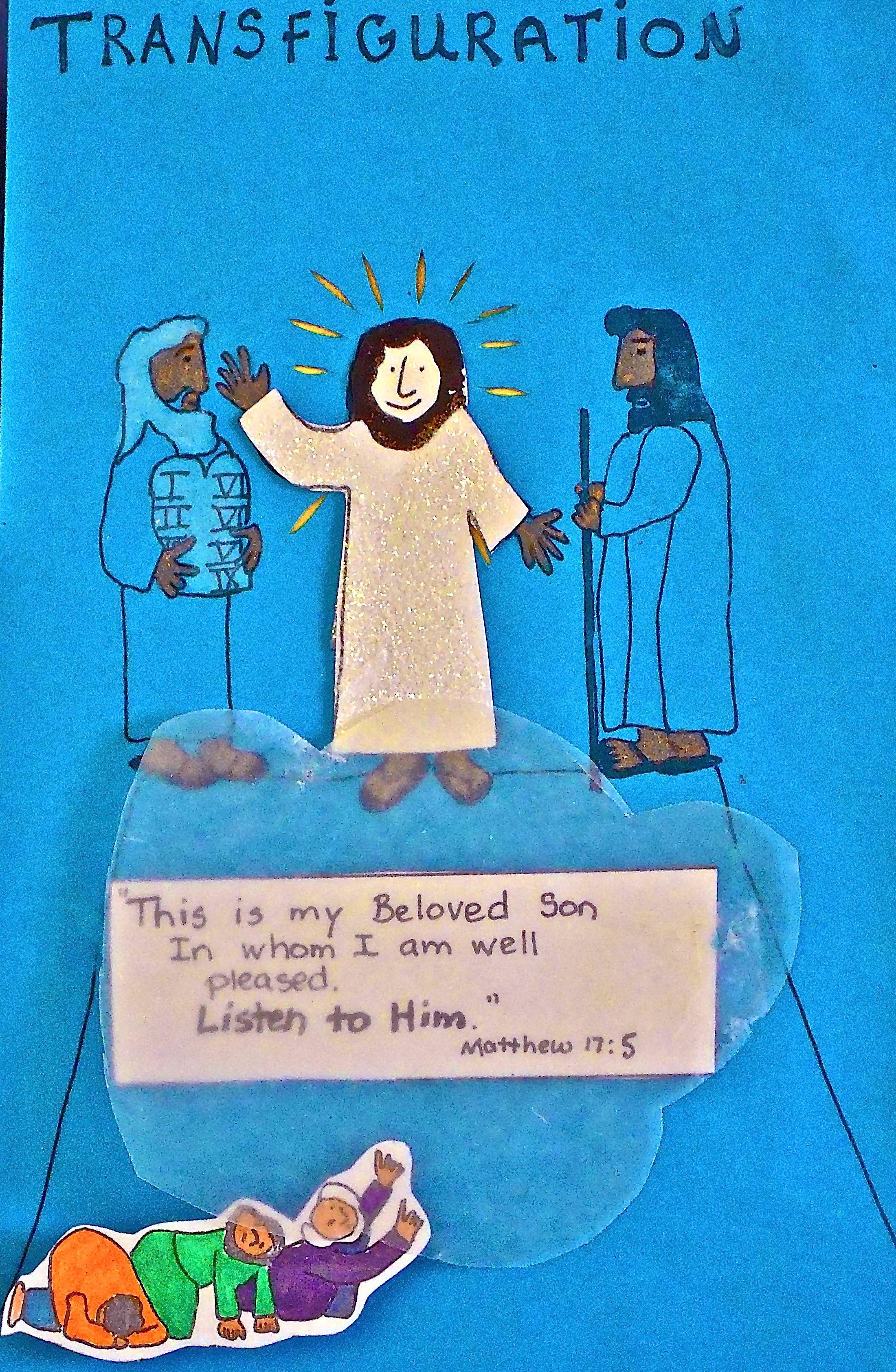 Free coloring pages jesus transfiguration - Transfiguration