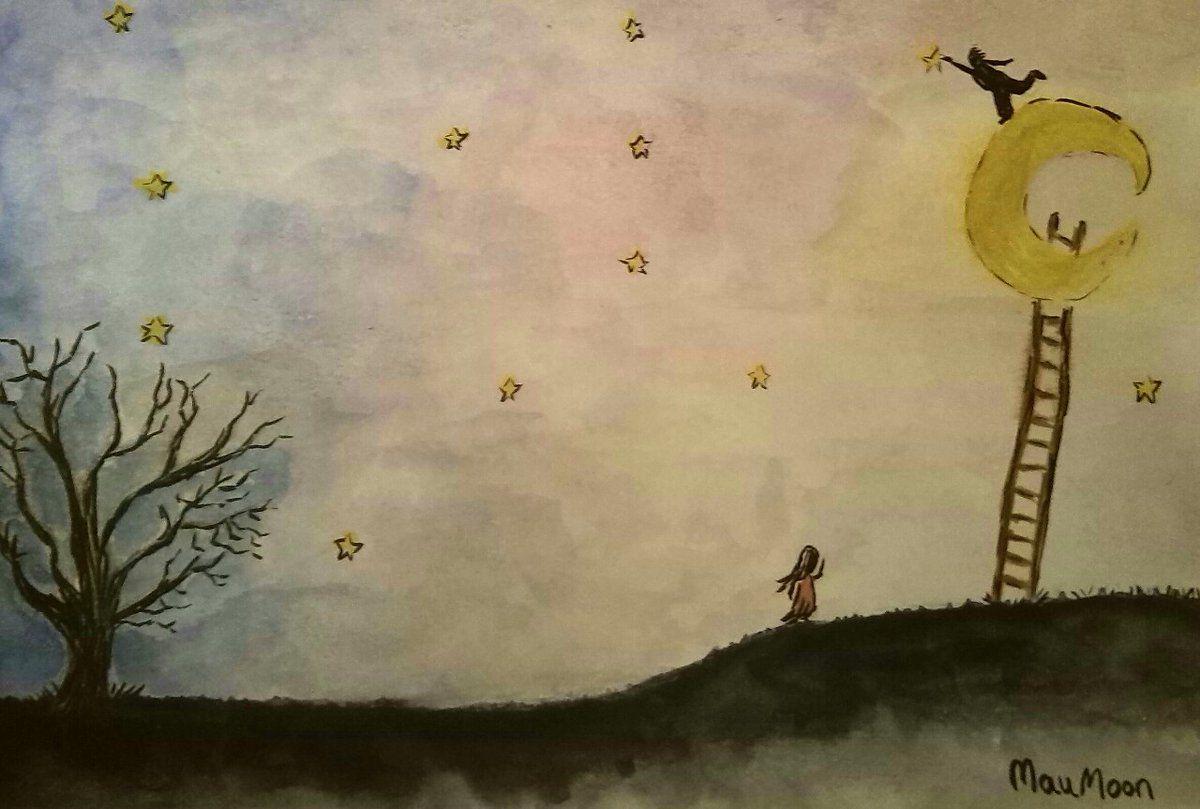 Si no hay estrellas, habrá que ponerlas- Acuarela