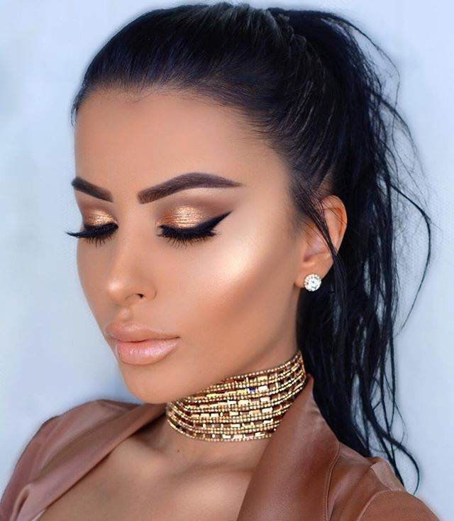 Golden Bronze Galore Party Makeup Looks Holiday Makeup Looks Pretty Makeup