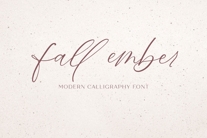 Fall Ember Calligraphy Script Handwritten Font Commercial   Etsy ...