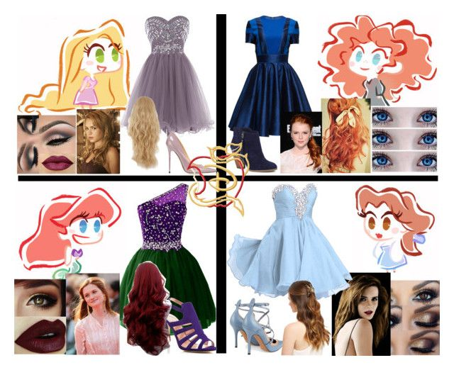 """Disney Descendants- Set It Off"" by creative-762 ❤ liked on Polyvore featuring Jimmy Choo, Lattori, Sole Society, SJP, Emma Watson and Valentino"