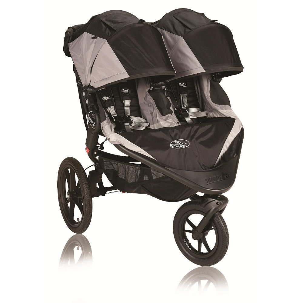 Baby Jogger Summit X3 Double Stroller Black/Gray Baby