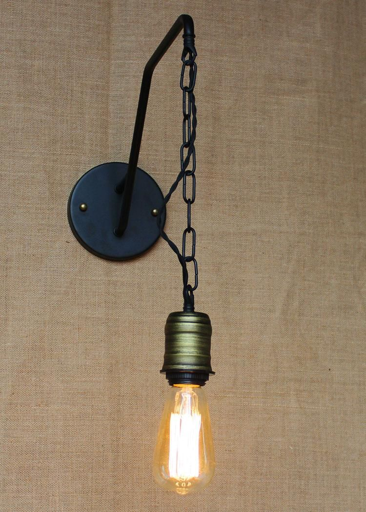 Christmas Retro Lamps Hanging Chain Edison Bulb Wall Sconce Lamps Personalized Christmas Gifts Christmas Lighting Holiday Retro Lamp Sconce Lamp Retro Lighting