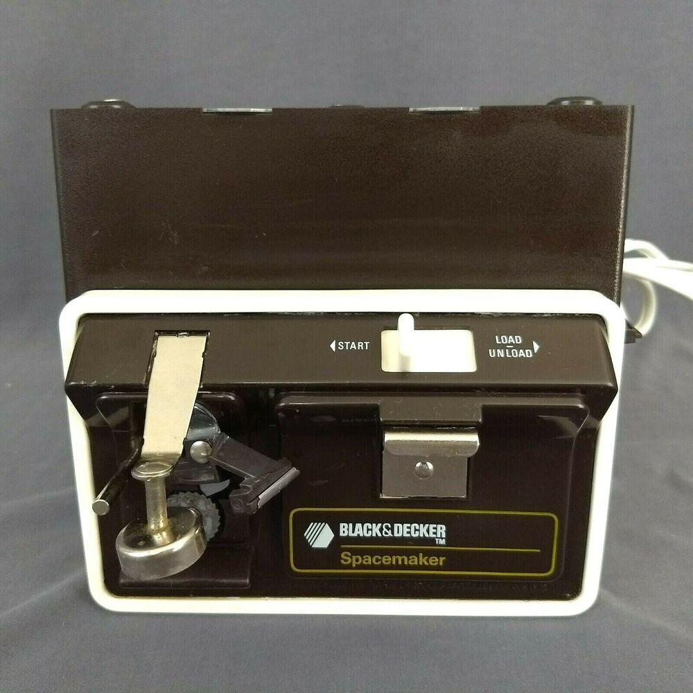 Vintage Black U0026 Decker Spacemaker Under Cabinet Space Saver Can Opener  EC 60CAD #Blackdecker